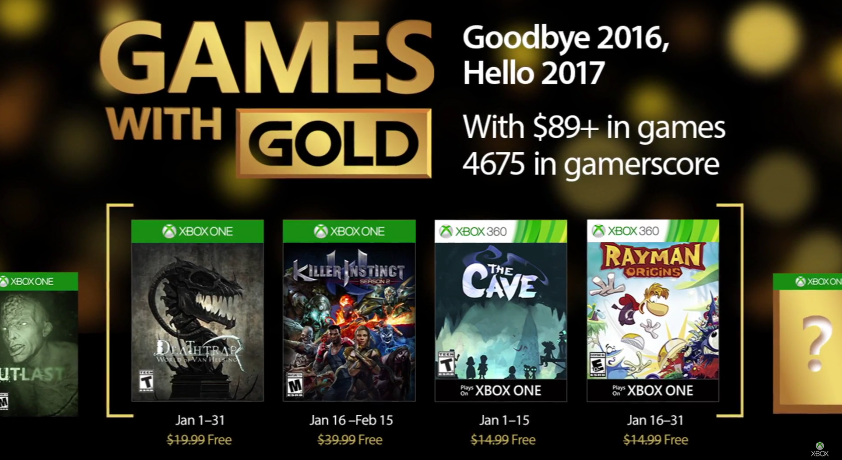 First Game With Gold from January is now available as free download