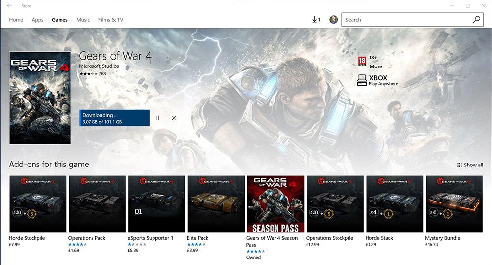 Gears of War 4 – dimensiunea jocului sare peste 100GB la instalare