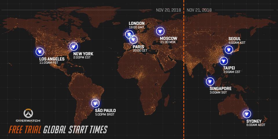 Joacă gratuit Overwatch 20-26 noiembrie pe Xbox One