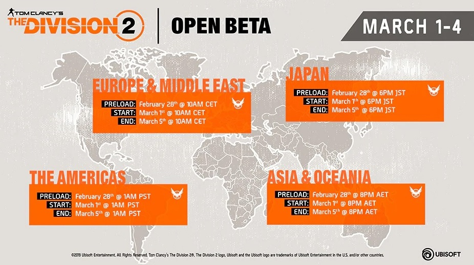 The Division 2 – Open Beta
