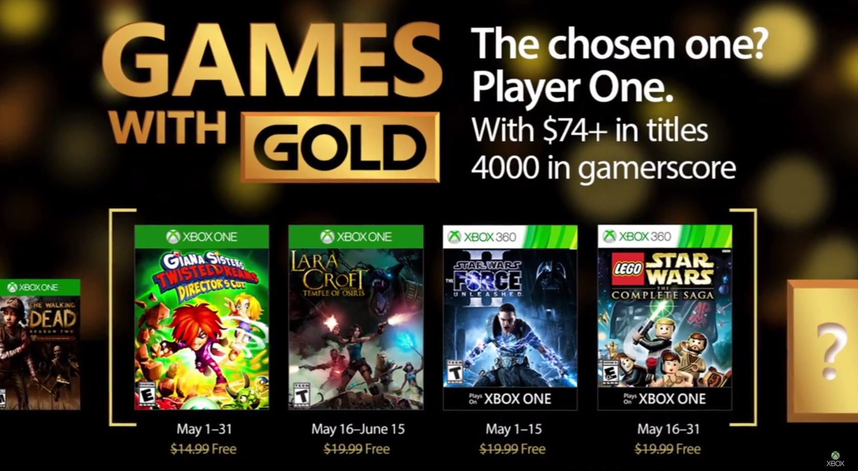 Games with Gold Mai 2017