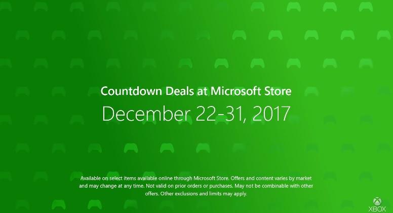 Reduceri de sărbători oferite de Microsoft – Xbox Countdown 2017
