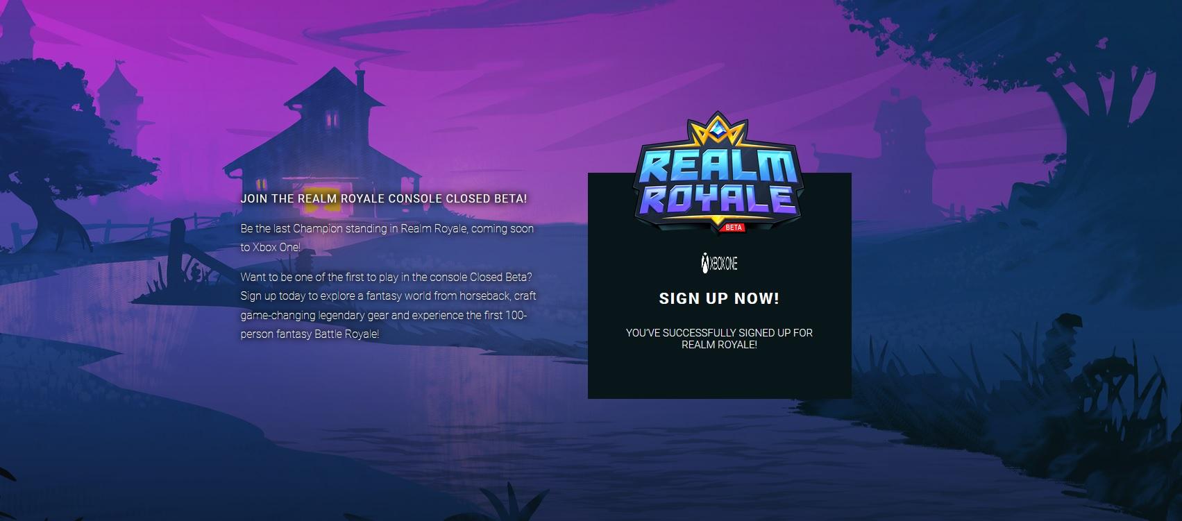 Realm Royale – înscriere pentru Closed Beta