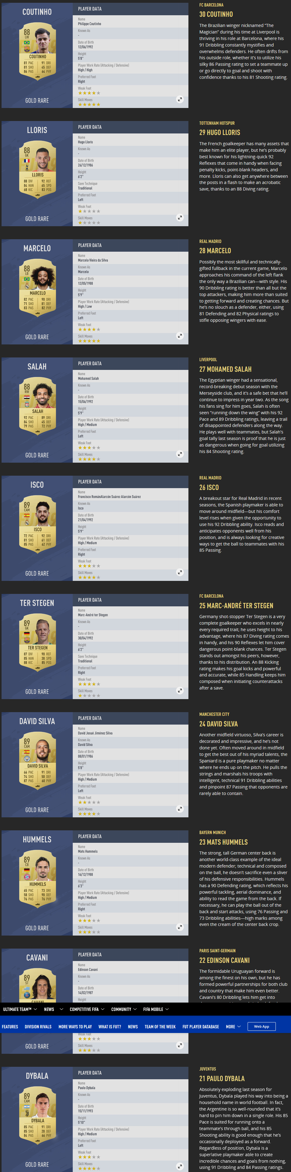 FIFA19PlayerRatingsTop100_21-30