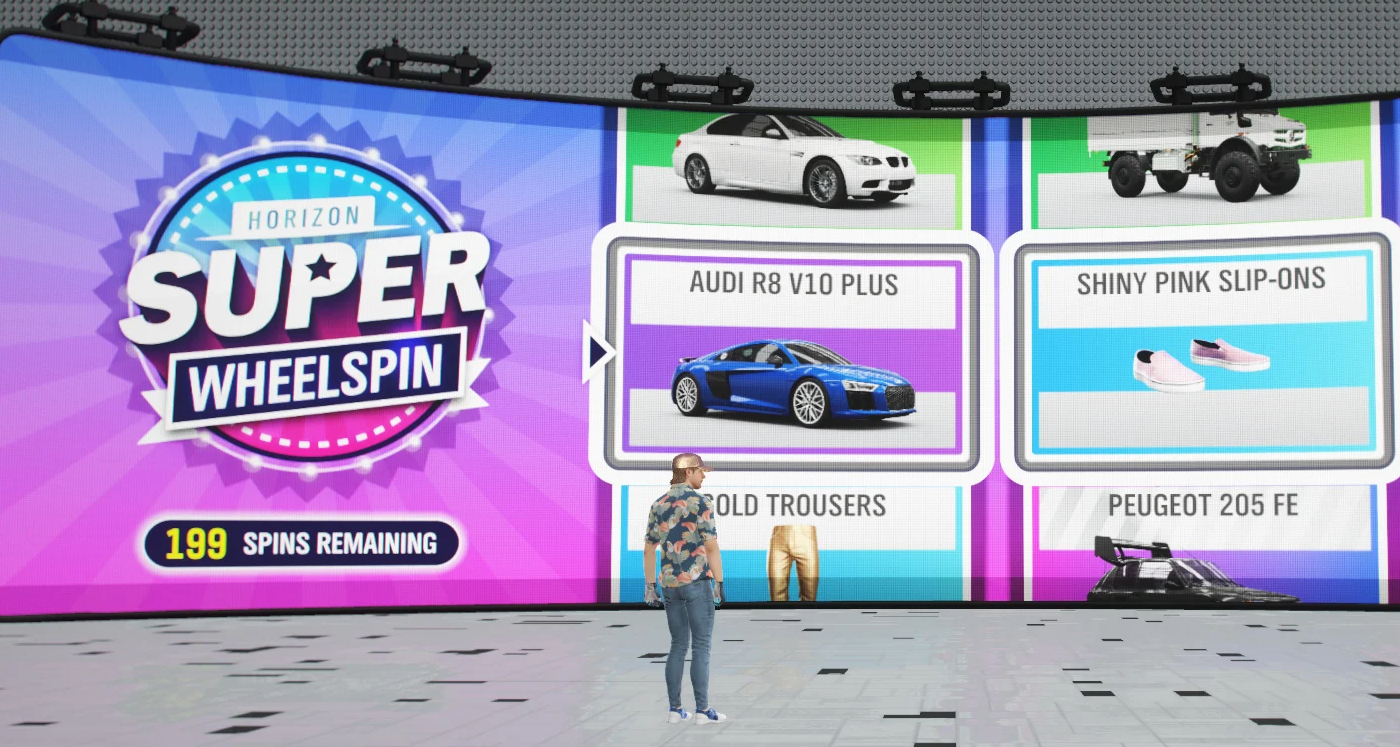 Forza Horizon 4 livrează gratuit 200 Super Wheelspins