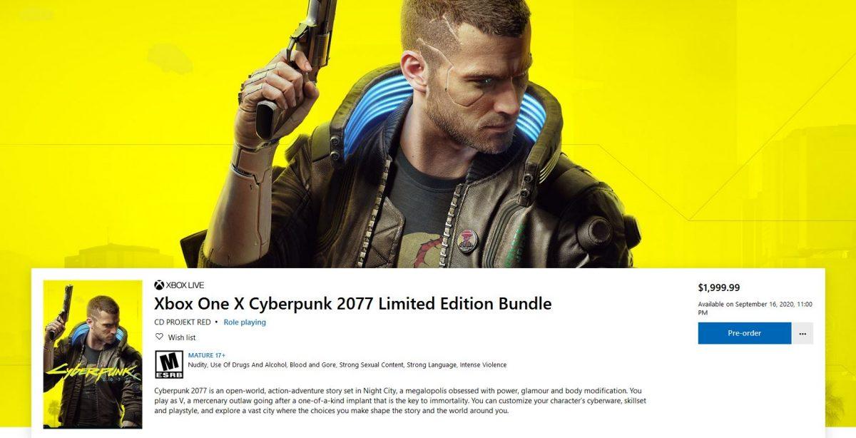 XboxOneXCyberpunk2077LimitedEditionPreț