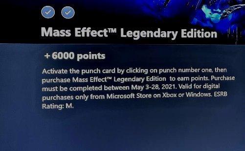Dacă cumpărați Mass Effect Legendary Edition, puteți obține gratuit 6000 de puncte Microsoft Rewards