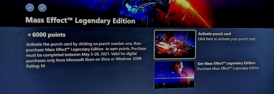 Dacă cumpărați Mass Effect Legendary Edition, puteți obține gratuit 6000 de puncte Microsoft